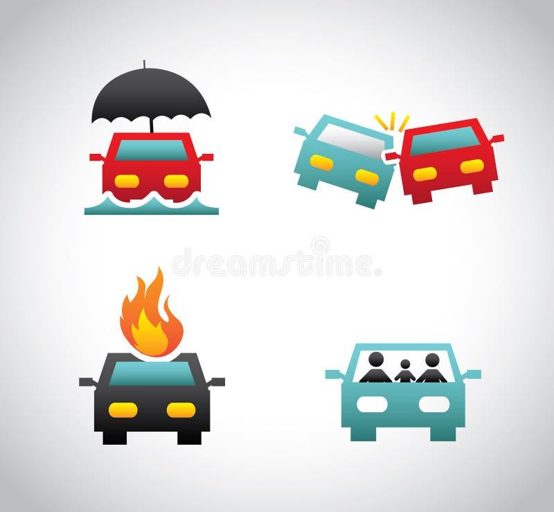 Assurance pour la voiture illustration de vecteur