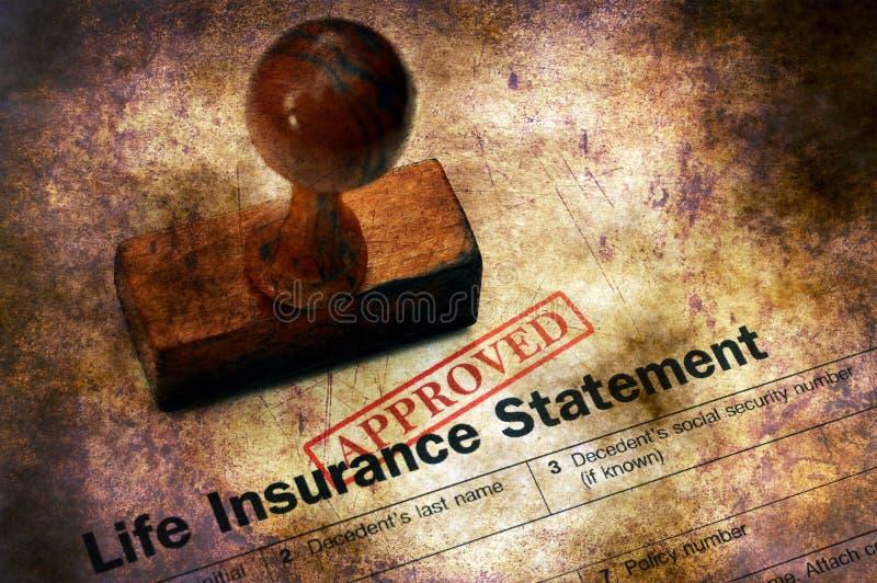 Assurance-vie - concept grunge approuvé image stock