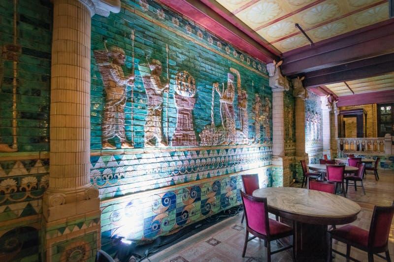 Assyrian Room, restaurant at Rio de Janeiro Municipal Theatre interior - Rio de Janeiro, Brazil stock image