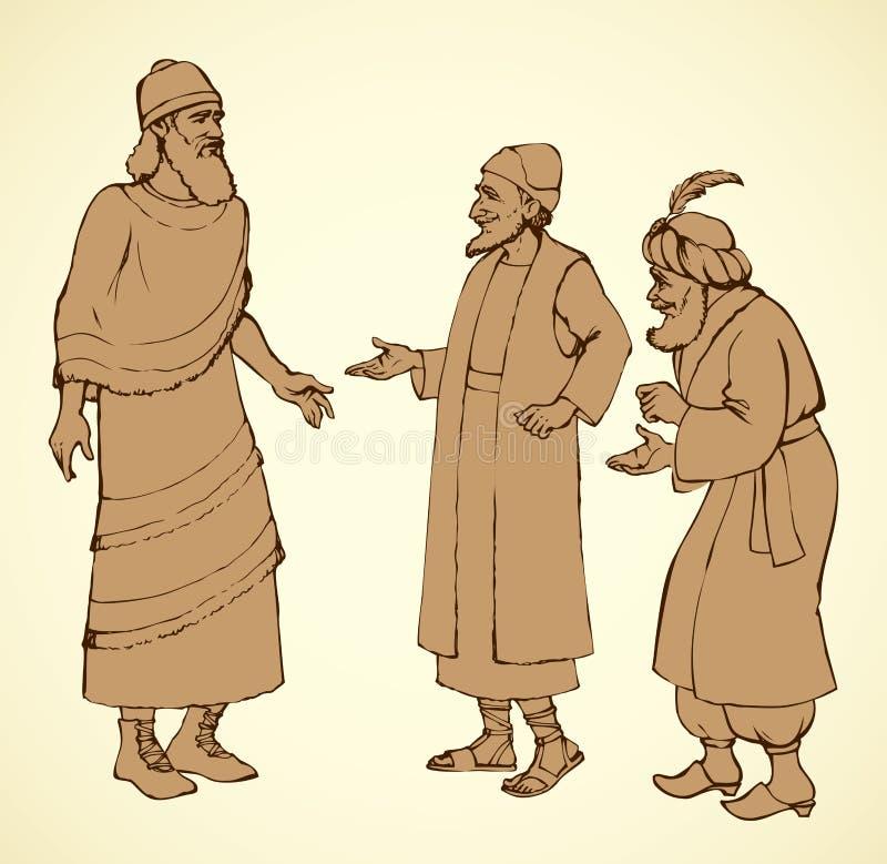 Assyrien, illustration de vecteur illustration libre de droits