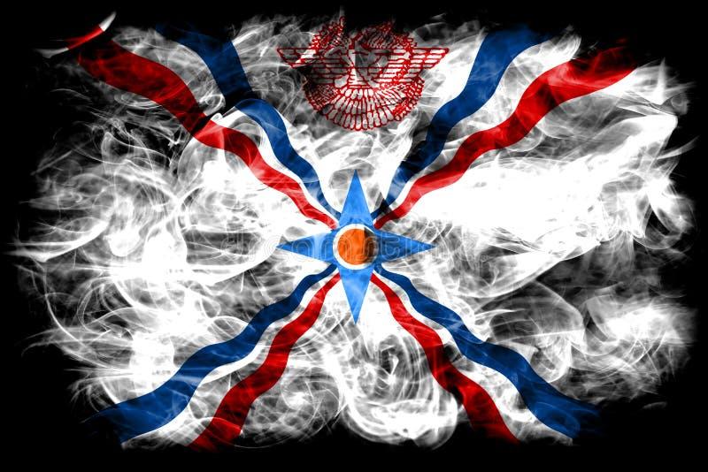 Assyrien rökflagga, beroende territoriumflagga fotografering för bildbyråer