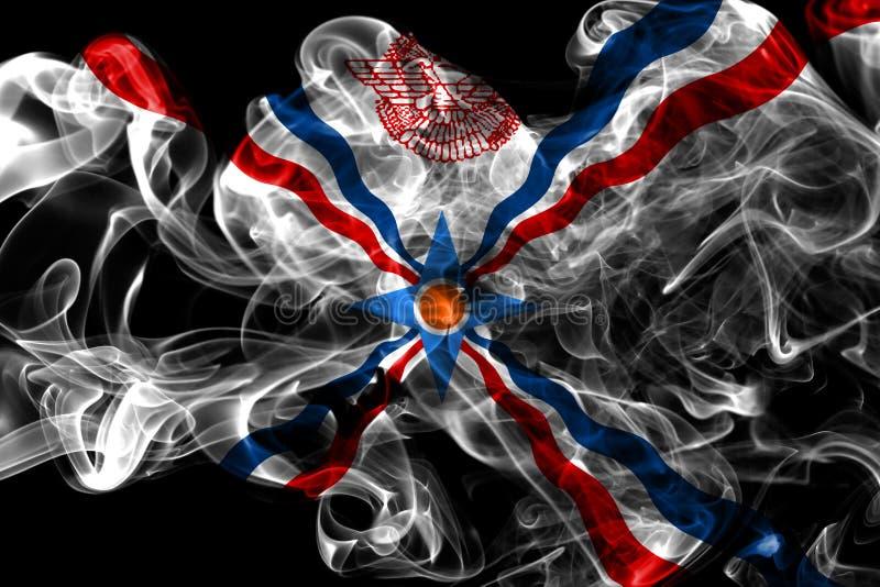 Assyrien rökflagga, beroende territoriumflagga royaltyfri fotografi