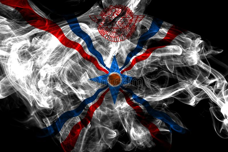 Assyrien r?kflagga, beroende territoriumflagga royaltyfri illustrationer