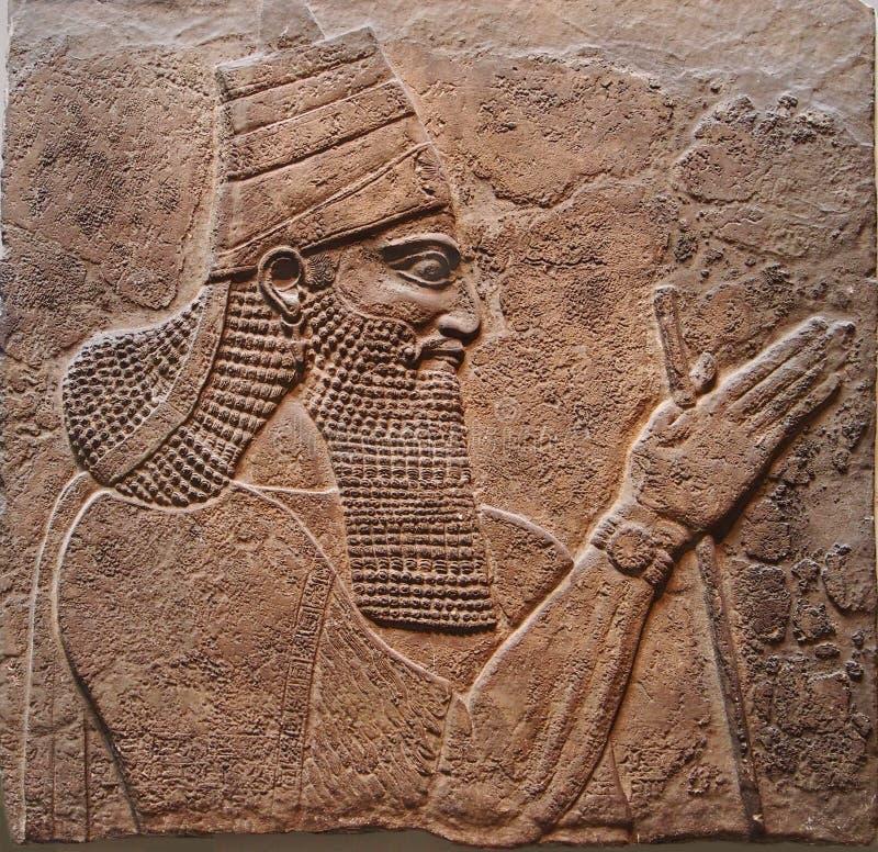 Assyrisk konung fotografering för bildbyråer