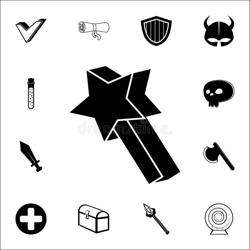 astérisque dans l'icône de jeu Ensemble universel d'icônes de jeu pour le Web et le mobile illustration libre de droits