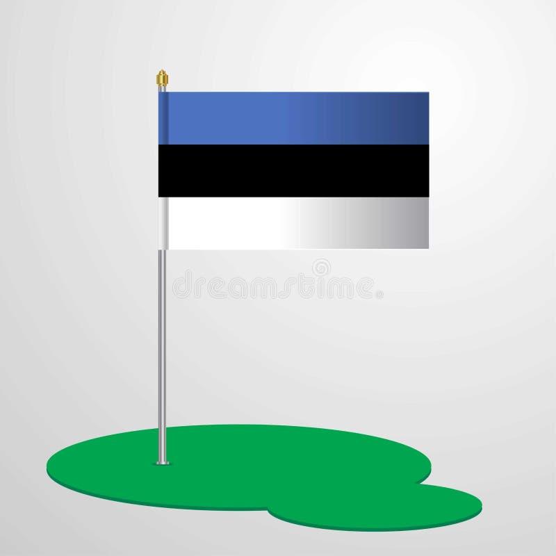 Asta de bandera de Estonia libre illustration