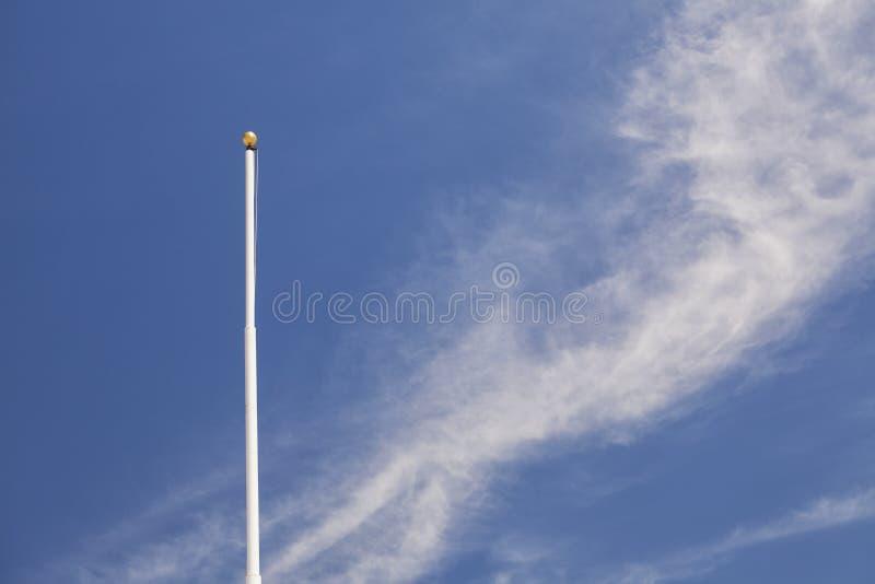 Asta della bandiera fotografie stock libere da diritti
