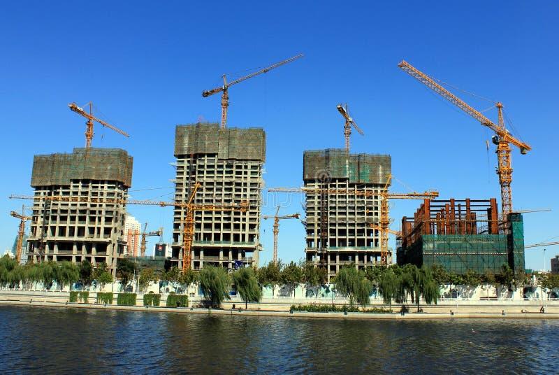Asta di costruzione in Cina fotografia stock libera da diritti