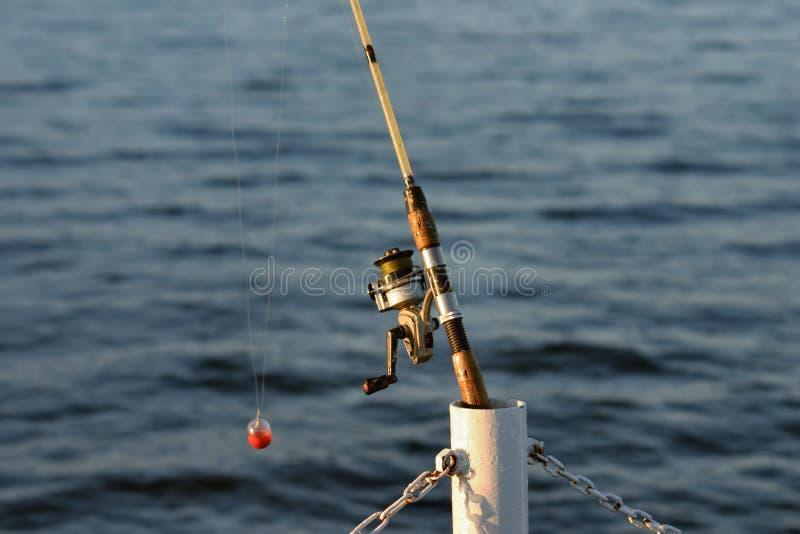 Asta di pesca immagini stock