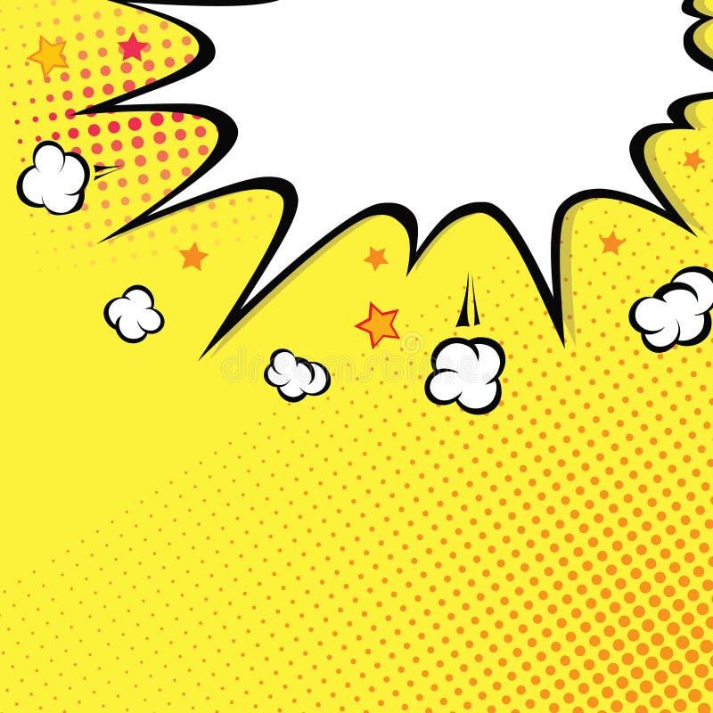 asta Esplosione del libro di fumetti sulla cima Fondo illustrazione di stock