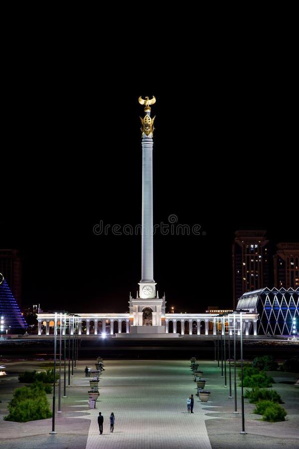 Astaná, Kazajistán - 3 de septiembre de 2016: El área del ` s de Kazajistán foto de archivo