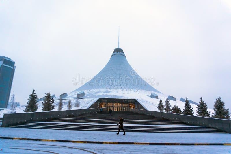 Astana, a capital de Cazaquistão Esta cidade será o local da expo 2017 fotos de stock royalty free