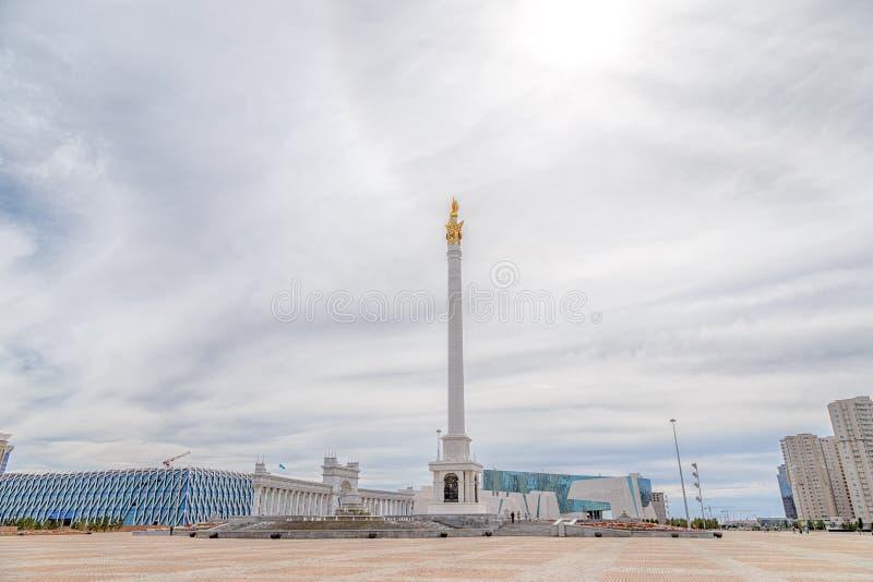 Astana, Cazaquistão - 3 de setembro de 2016: A área do ` s de Cazaquistão fotografia de stock