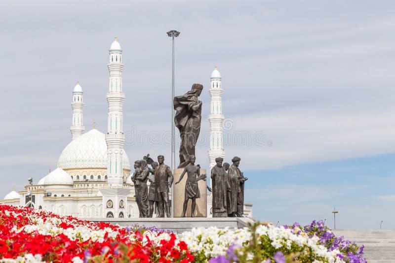 Astana, Cazaquistão - 3 de setembro de 2016: A área do ` s de Cazaquistão imagem de stock royalty free