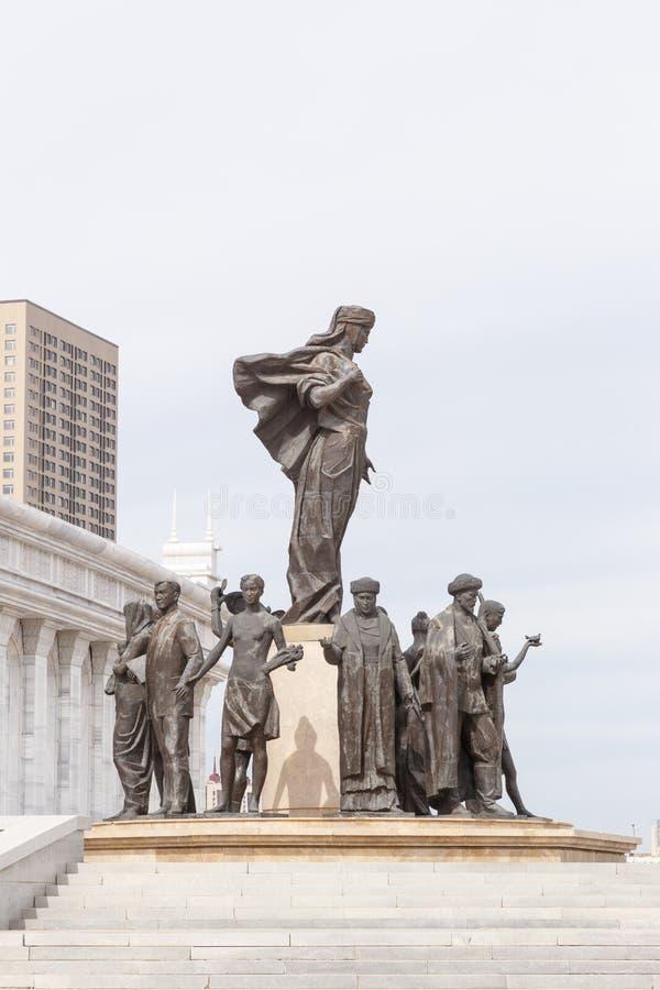 Astana, Cazaquistão - 3 de setembro de 2016: A área do ` s de Cazaquistão foto de stock royalty free