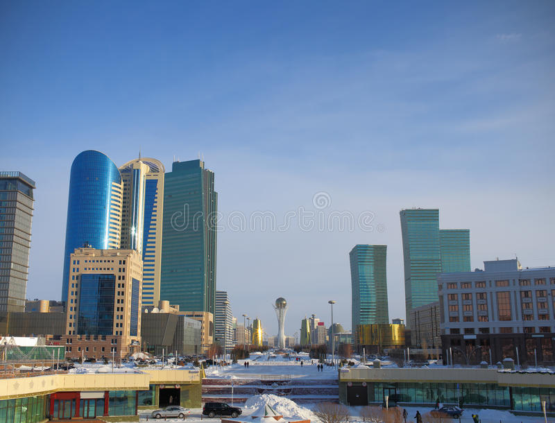 Download Astana. the central part. stock photo. Image of nazarbaev - 30184860