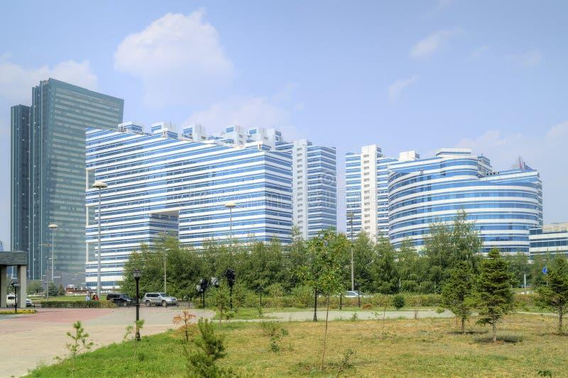 astana Centre de ville Boulevard de Nurzhol photos libres de droits