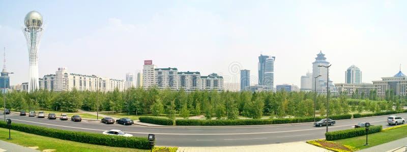 astana Centrum van stad Panorama stock fotografie