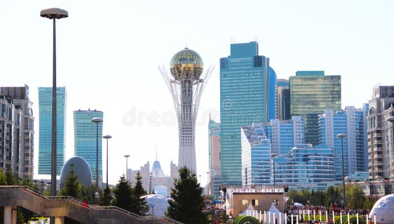 Astana de hoofdstad van de Republiek Kazachstan stock foto