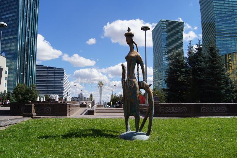 Astana de hoofdstad van Kazachstan, modern art. stock foto's