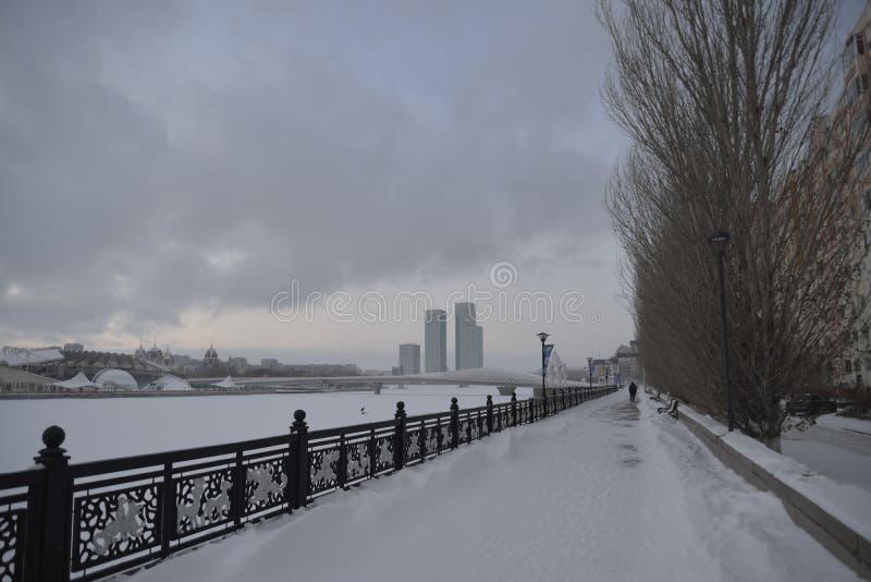 Astana en décembre photo stock