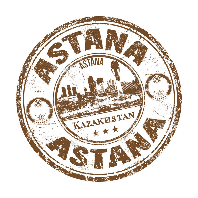 Astana grunge rubber stamp royalty free stock photo