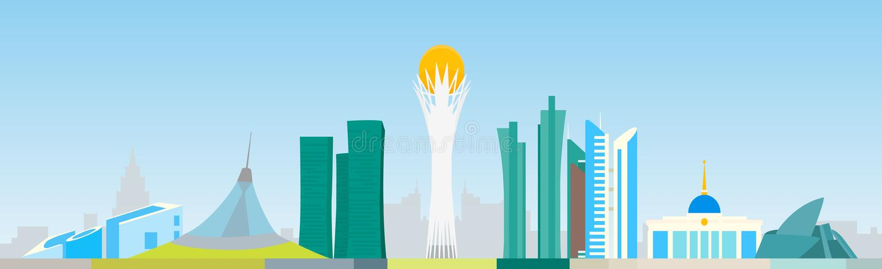 Astana horisont royaltyfri illustrationer