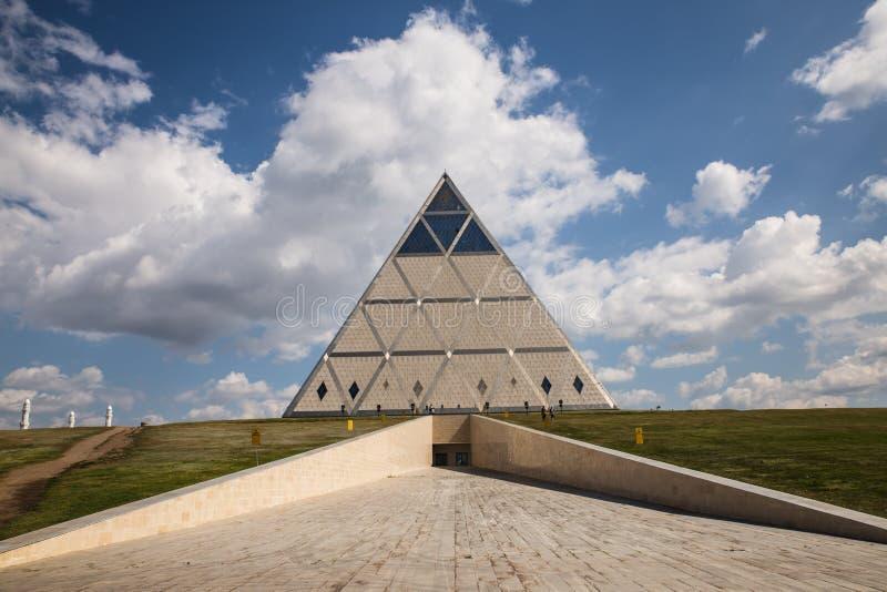 ASTANA, il Kazakistan 27 08 Palazzo 2016 di pace e di riconciliazione immagini stock libere da diritti