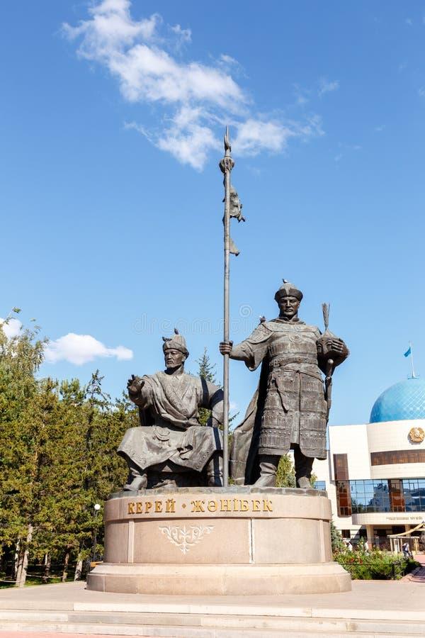 Astana, il Kazakistan - 4 settembre 2016: Monumento J variabile Kerey fotografie stock