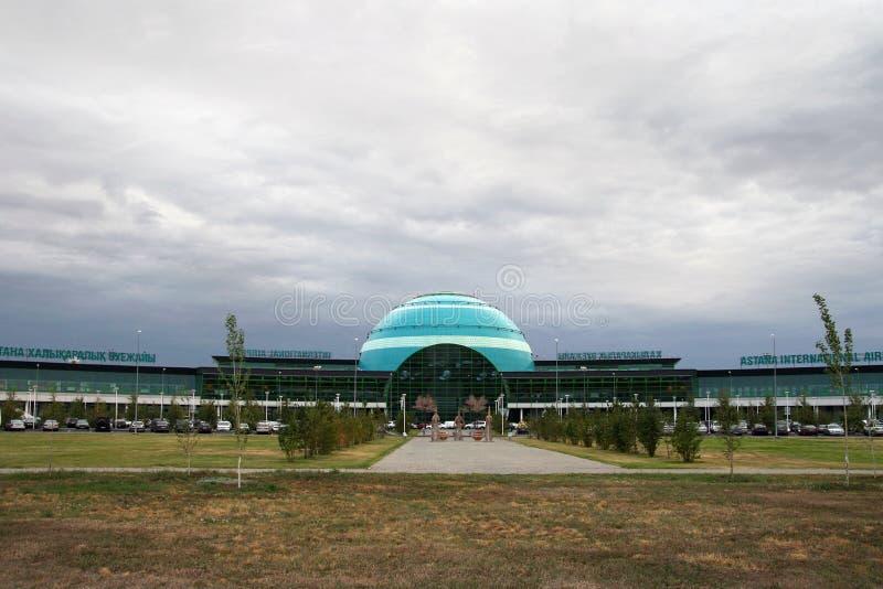 Astana internationell flygplats fotografering för bildbyråer