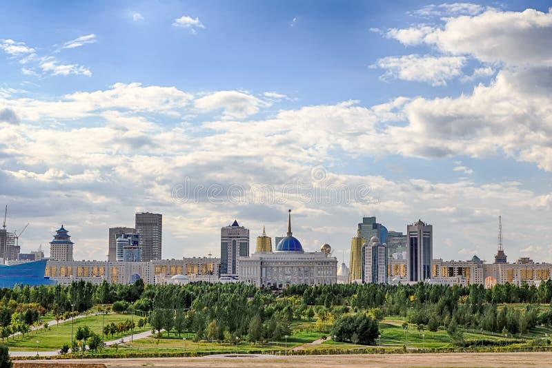 Astana Kasakhstan - September 6, 2016: Presidentpalatset Akor arkivbild