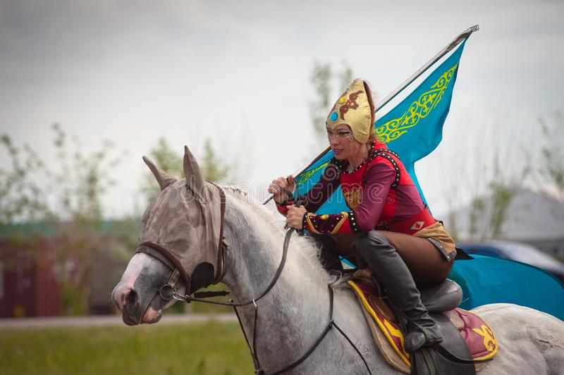 Astana, Kazakhstan, June 30 International Festival. Astana, Kazakhstan, June 30, 2018. International Festival `Kóshpendiler Álemi`. Competitions of stock photos