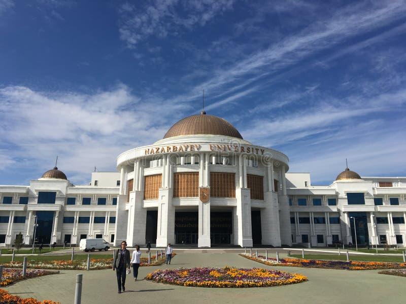 Astana, Kazakhstan, le 15 septembre 2018 Vue d'extérieur d'université de Nazarbayev photographie stock libre de droits