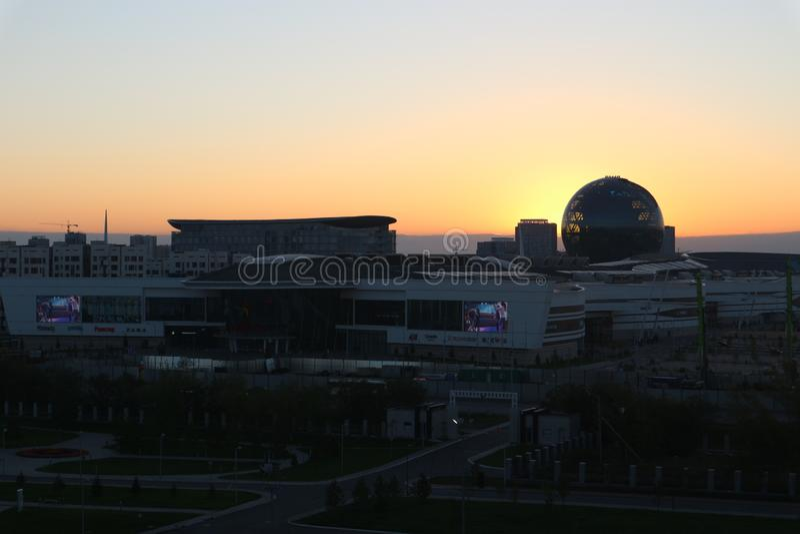 """Astana, Kazakhstan, le 13 septembre 2018, vue du bâtiment de """"Astana EXPO-2017 """" images stock"""