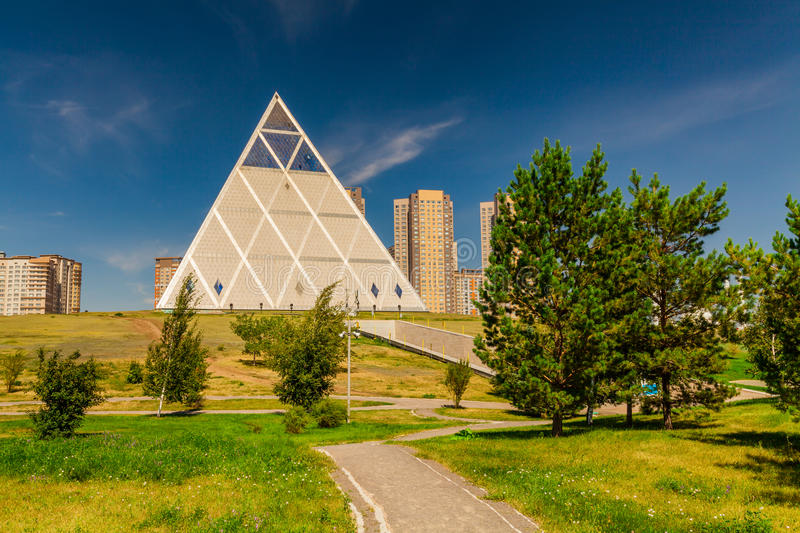 Astana, Kazakhstan - Palace of Peace and Reconciliation. stock image