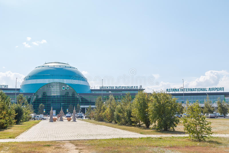 Astana, Kazakhstan - September 6, 2016: International airport of royalty free stock image