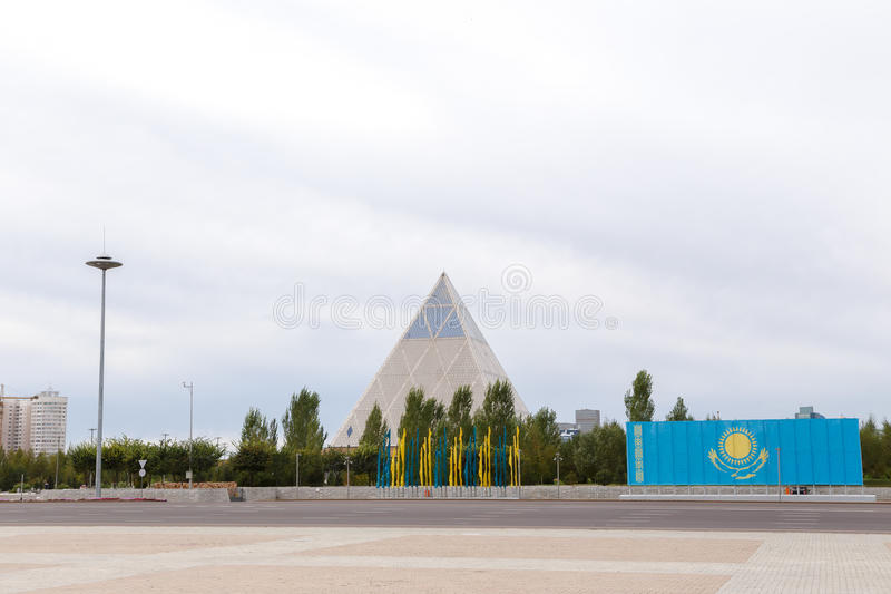 Astana, Kazakhstan - September 3, 2016: Palace of Peace and Reconciliation stock photo