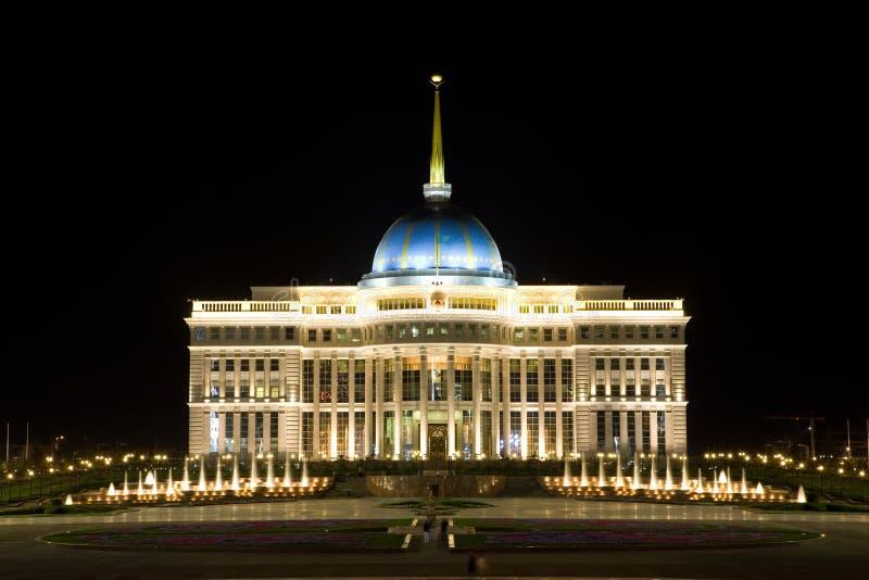 astana kazakhstan slottpresident s arkivbilder