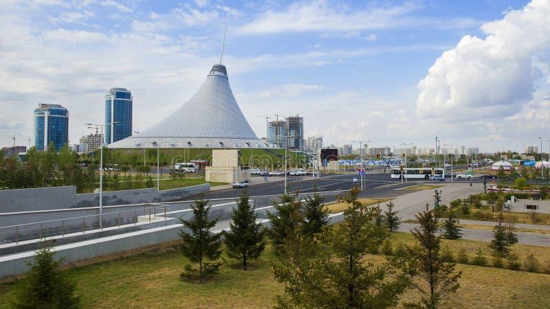 astana miasta buil wieży zegara kazakhstan obrazy royalty free