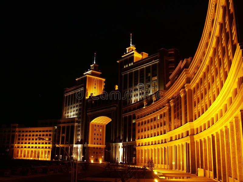 Astana at Night. Asia, building, buildings, cities, city, evening, klcc, kuala, lights, lumpur, malaysia, night, tower, towers royalty free stock photography