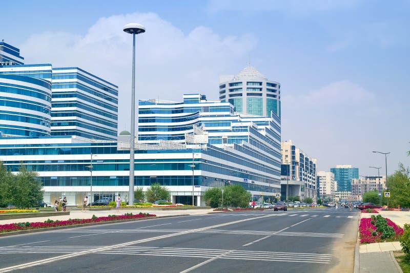 Astana. Paesaggio comunale immagini stock libere da diritti