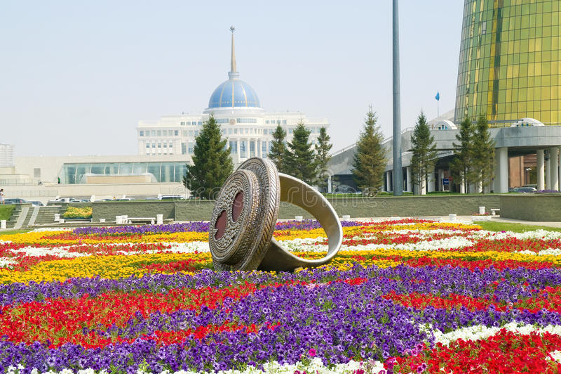 Astana. Paisaje municipal imagen de archivo libre de regalías