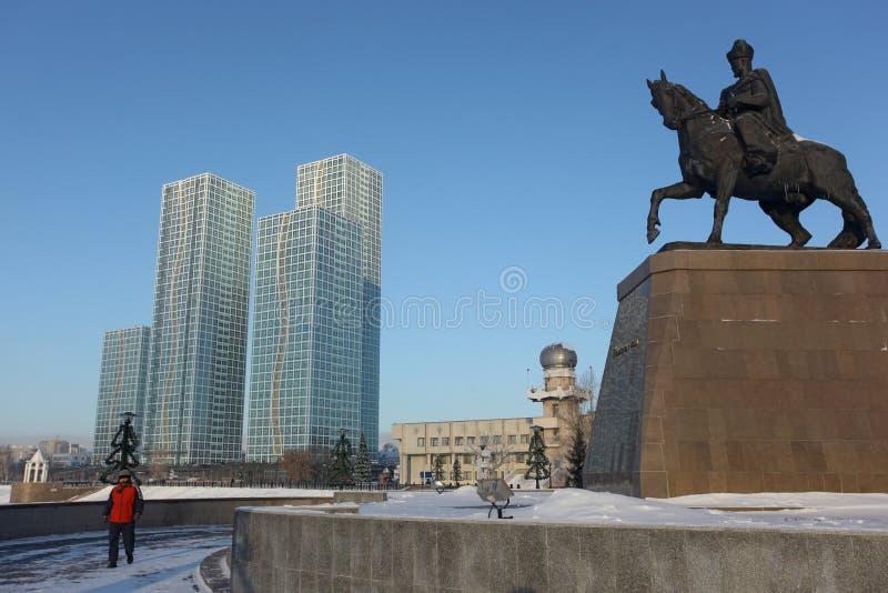 Astana Pomnikowy Khan Kenesary obrazy royalty free