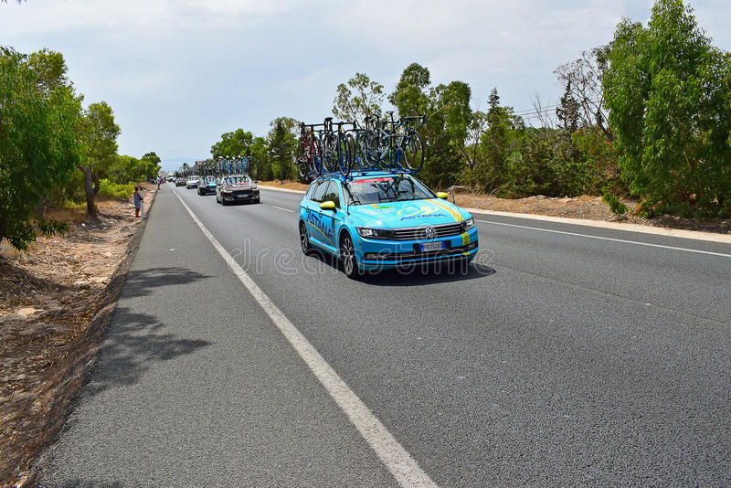 Astana Pro Team Car La Vuelta España royalty free stock images