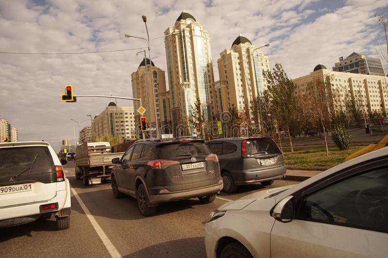 Astana is the representative building of the government district of the Kazakh capital stock image