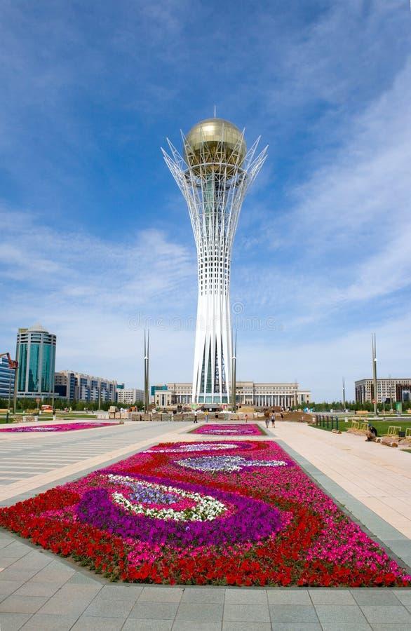 Astana. Simbolo di Kazakhstan - Bayterek fotografia stock libera da diritti