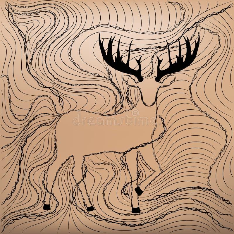Astas de los ciervos imagenes de archivo