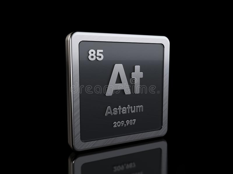 Astatine As, element symbol from periodic table series royalty free illustration