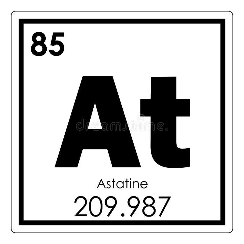 Astatine chemical element royalty free illustration