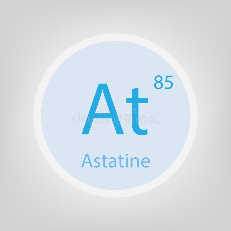 Astatine At chemical element icon royalty free illustration